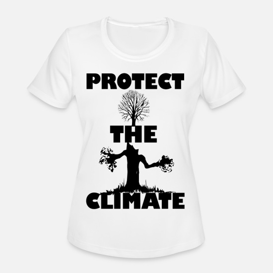 Save The World T-Shirts - Protect the climate - Women's Sport T-Shirt white