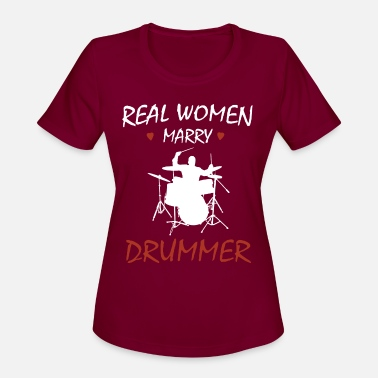 Tama Drums Real women marry drummer - Women's Sport T-Shirt
