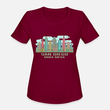 Mira San Diego Mira Mesa California Skyline United Stat - Women's Sport T-Shirt