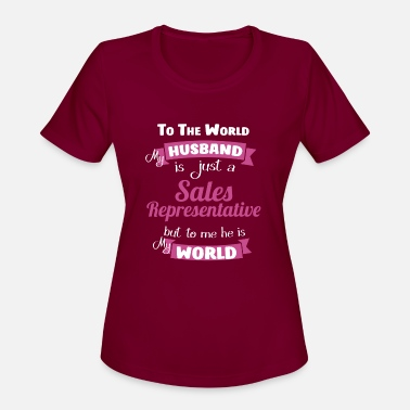 Sale Sales representative - To the world my husband is - Women's Sport T-Shirt