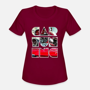 Pictures car tuning collage colorful gift idea - Women's Sport T-Shirt