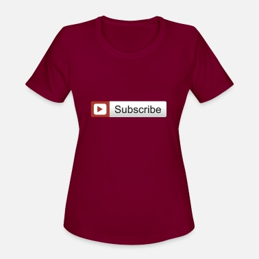Subscribe YOUTUBE SUBSCRIBE - Women's Sport T-Shirt