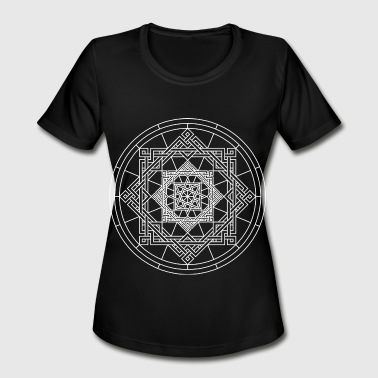 Porn Art Design Star Geometry Present Art Design White - Women's Moisture Wicking Performance T-Shirt