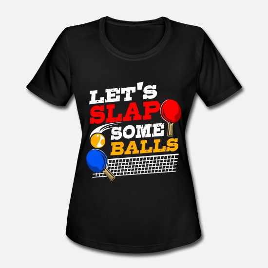Tennis T-Shirts - Ping Pong Ball Player Table Tennis Paddle Gift - Women's Sport T-Shirt black