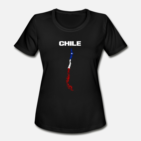 Country T-Shirts - Chile - Women's Sport T-Shirt black