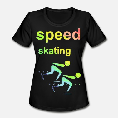 I Love Speed Skate speed skating Winter Games 2reborn - Women's Moisture Wicking Performance T-Shirt