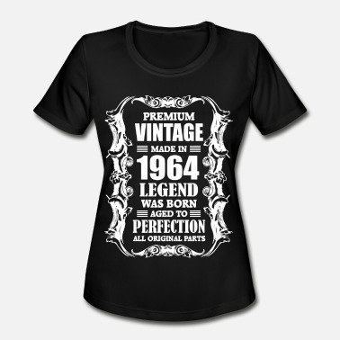 August 1964 Premium Vintage Made in 1964 Legend was Born aged - Women's Moisture Wicking Performance T-Shirt