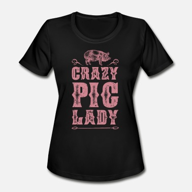 Pig Lady Pig Lady - Women's Moisture Wicking Performance T-Shirt