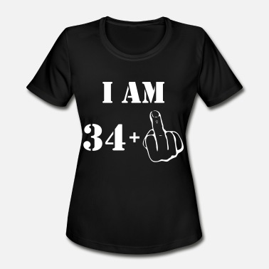 I Am 34 35th Birthday T Shirt 34 + 1 Made in 1982 - Women's Moisture Wicking Performance T-Shirt