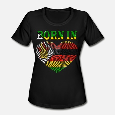 Zimbabwe Zimbabwe - Women's Moisture Wicking Performance T-Shirt