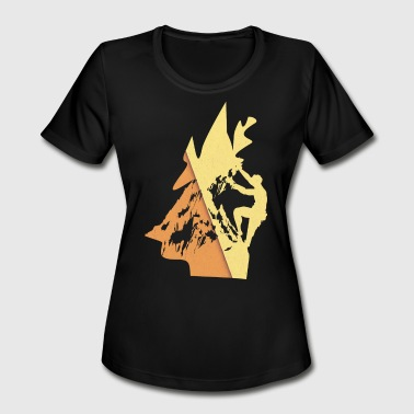Rock Climbing and Rappelling - Women's Moisture Wicking Performance T-Shirt