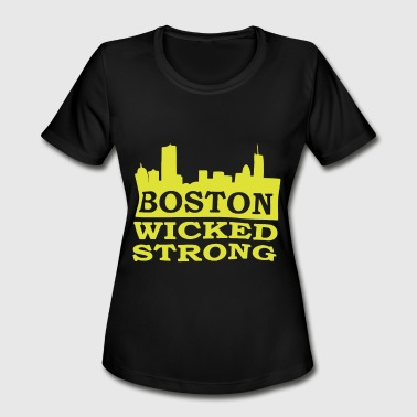 Boston Wicked Strong Marathon Boston Marathon Bost - Women's Moisture Wicking Performance T-Shirt