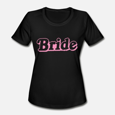 Pink Hen Party Bride Pink Top Wedding Hen Party Gift Married To B - Women's Moisture Wicking Performance T-Shirt