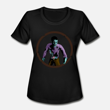 Disgusting Scary Bones and Guts, Disgusting Zombie for Halloween - Women's Moisture Wicking Performance T-Shirt