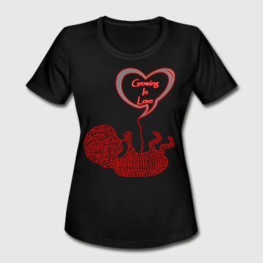 Baby Loves Mommy Mommy To Be Baby Growing In Love! - Women's Moisture Wicking Performance T-Shirt