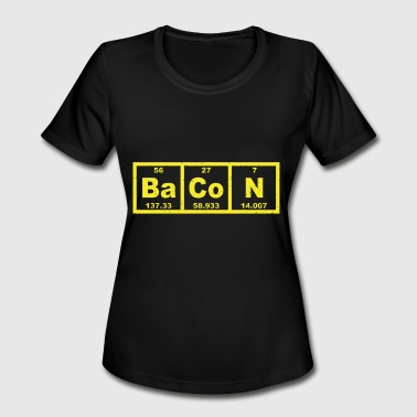 Computer Forensics Jokes Bacon Periodic Table chemistry teacher - Women's Moisture Wicking Performance T-Shirt