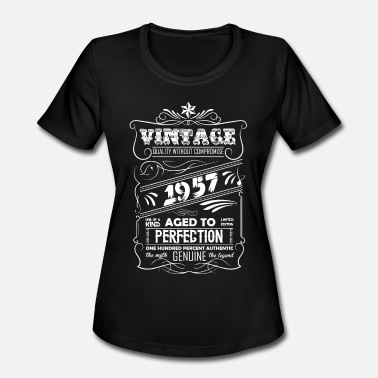 1957 Aged To Vintage Aged To Perfection 1957 - Women's Moisture Wicking Performance T-Shirt