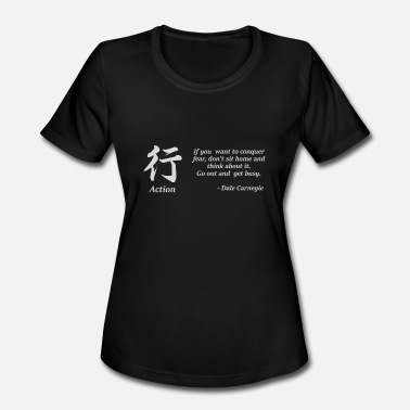 Action Quote with Kanji - Women's Sport T-Shirt