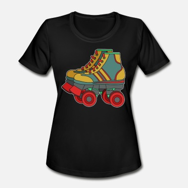 Rollerblading Designs Classic & Cool Tshirt Design Roller Blades - Women's Moisture Wicking Performance T-Shirt