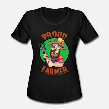 Workaholic Quotes Great Gift Idea For Workaholic Person Proud Farmer - Women's Moisture Wicking Performance T-Shirt