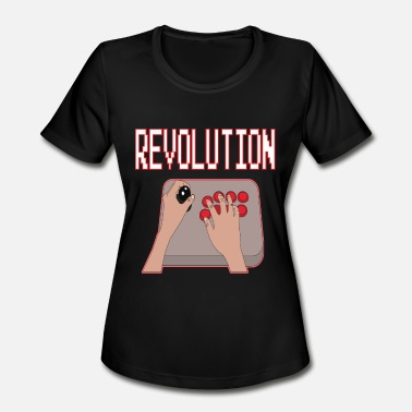 Revolution Geek GAMERS REVOLUTION Nerd Geek Game Videogames - Women's Moisture Wicking Performance T-Shirt