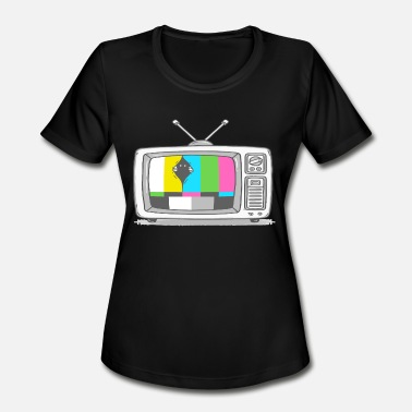 Geeks Watch Tv Watching TV - Women's Moisture Wicking Performance T-Shirt