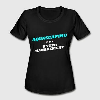 Aqua Birthday aquarium,Aquascaper, Aquascaping, Aquascape, aqua - Women's Moisture Wicking Performance T-Shirt