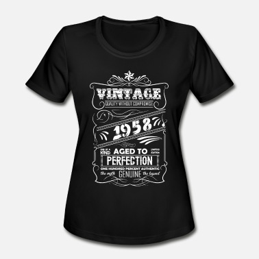 Vintage 1958 Aged To Perfection Vintage Aged To Perfection 1958 - Women's Moisture Wicking Performance T-Shirt