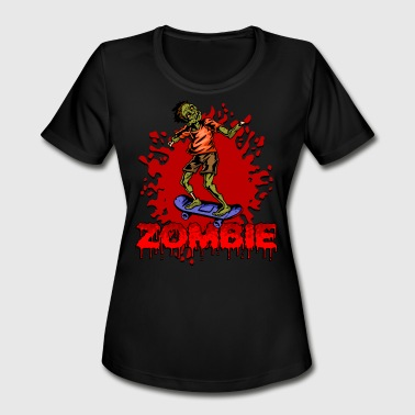 Halloween Zombie Skateboarder - Women's Moisture Wicking Performance T-Shirt
