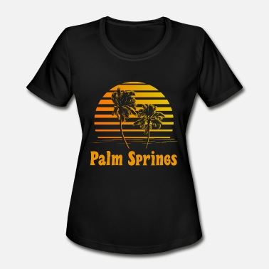 Springs Palm Springs California Sunset Palm Trees - Women's Moisture Wicking Performance T-Shirt
