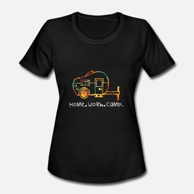Caravan T-Shirt Camp Camper Holiday - Women's Sport T-Shirt