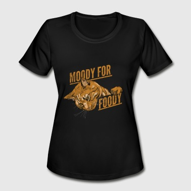 CAT Moody for foody - Women's Moisture Wicking Performance T-Shirt