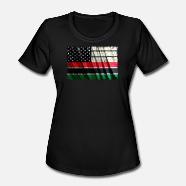Pan African Flag African American Flag Pan African Flag Vintage - Women's Moisture Wicking Performance T-Shirt