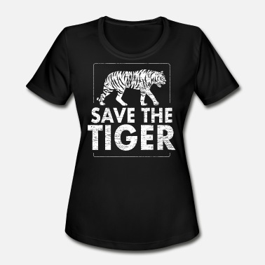 Protection Of Animals Save the tiger Animal Protection - Women's Moisture Wicking Performance T-Shirt