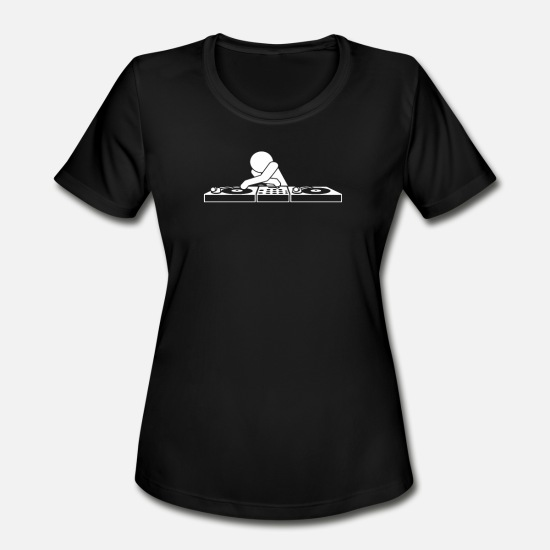 Techno T-Shirts - DJ Booth T Shirt - Women's Sport T-Shirt black