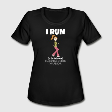 Ulcerative Colitis Funny Bathroom Super Power - Women's Moisture Wicking Performance T-Shirt