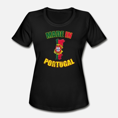 Made In Portugal Portugal Portugal flag made in Portugal - Women's Moisture Wicking Performance T-Shirt