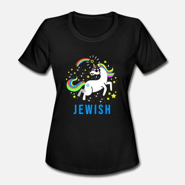 Judaism Jewish Jew Jewnicorn Unicorn Judaism Hebrew Israel - Women's Moisture Wicking Performance T-Shirt