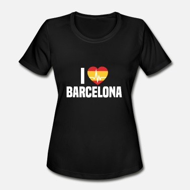 I Love Barcelona I love Barcelona Spain Espana - Women's Moisture Wicking Performance T-Shirt