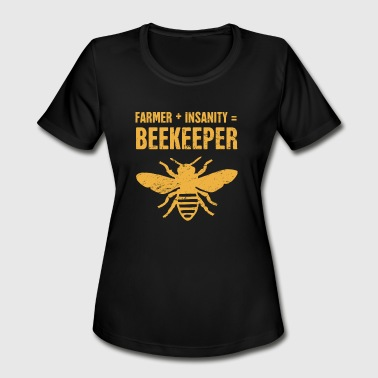 Funny Bee Keeper Design - Women's Moisture Wicking Performance T-Shirt