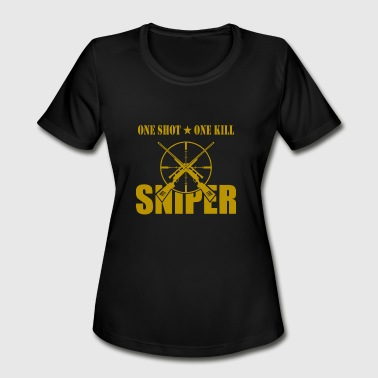 ONE SHOT ONE KILL SNIPER - Women's Moisture Wicking Performance T-Shirt