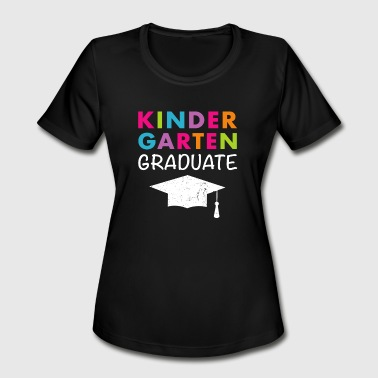 Kids Graduation Kindergarten Graduate T Shirt Graduation - Women's Moisture Wicking Performance T-Shirt