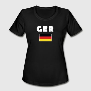 Sport Event germany ger flag shirt sport events gift - Women's Moisture Wicking Performance T-Shirt