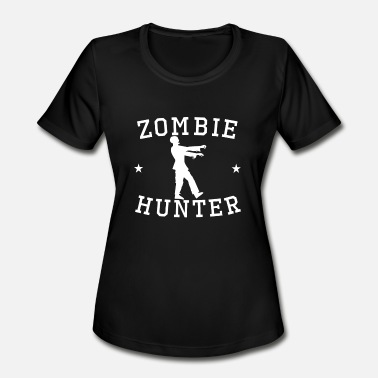 Zombie Hunter Zombie Hunter Zombie Silhouette - Women's Moisture Wicking Performance T-Shirt
