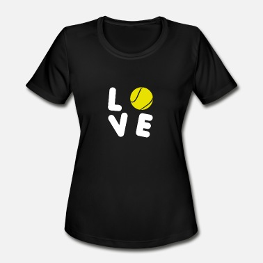 Basic Love Love - Tennis - Total Basics - Women's Moisture Wicking Performance T-Shirt