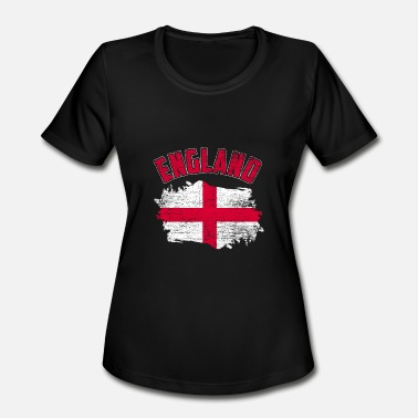 England Flag English Flag England Flag - Women's Moisture Wicking Performance T-Shirt