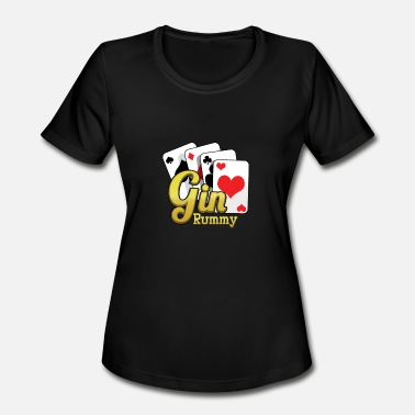 Rummy Gin Rummy Card Deck - Women's Moisture Wicking Performance T-Shirt