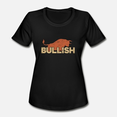 Bull And Bear Bull Market Gift for Trade Lovers Stock Market - Women's Moisture Wicking Performance T-Shirt
