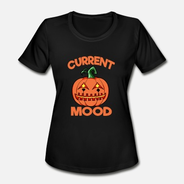 Happy Mood Halloween Pumpkin Current Mood Happy - Women's Moisture Wicking Performance T-Shirt
