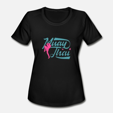 Muay Thai Christmas Muay Thai - Women's Moisture Wicking Performance T-Shirt